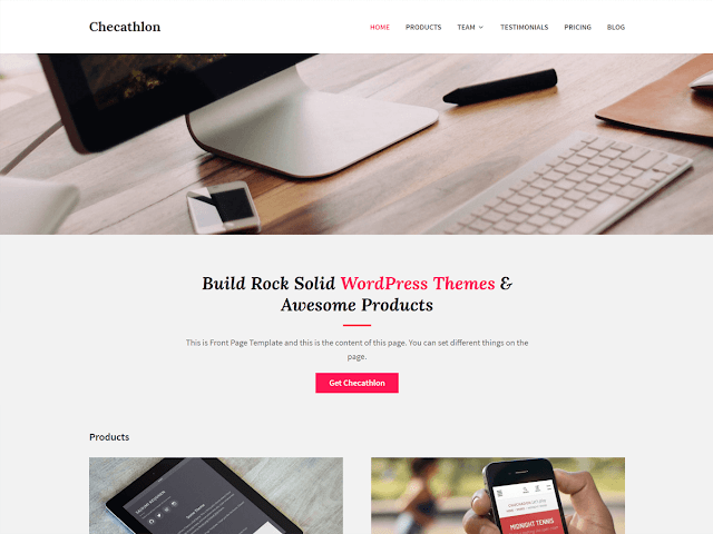 Checathlon - Free Wordpress Themes for Selling Your Digital Products