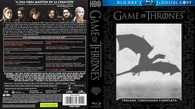 Game Of Thrones Season 3 Bluray Cover