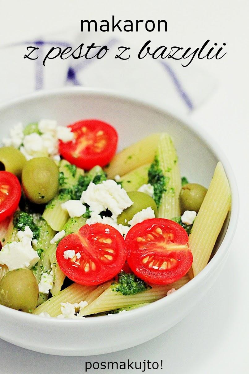 Ekspresowy obiad, czyli makaron z pesto z bazylii