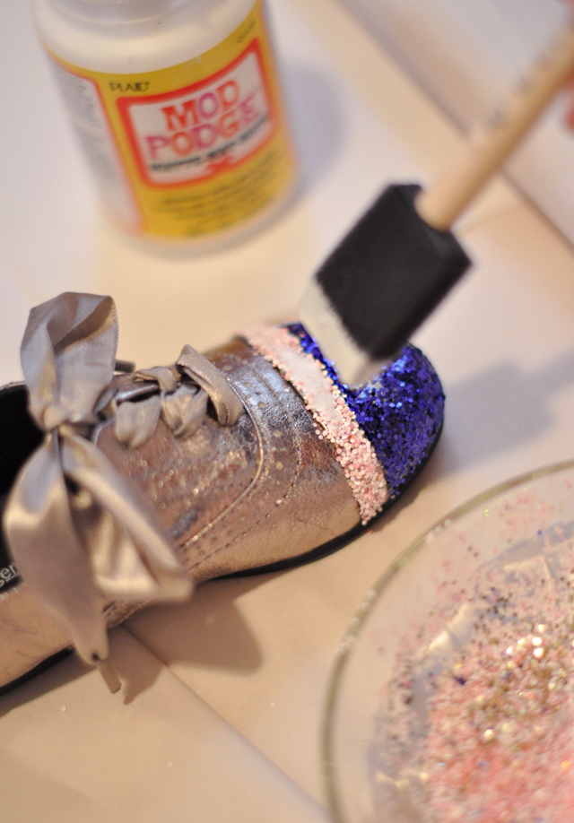 Diy Glitter Cap Toe Shoes For Kids Or Adults Love Maegan