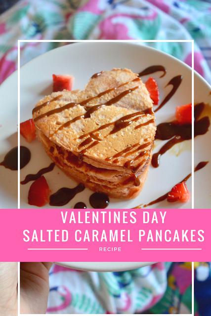 valentines day salted caramel pancakes recipe
