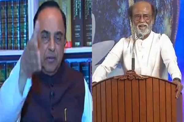 रजनीकांत ने की राजनीति में एंट्री की घोषणा, सुब्रमनियम स्वामी ने की उनकी पोल खोलने की घोषणा