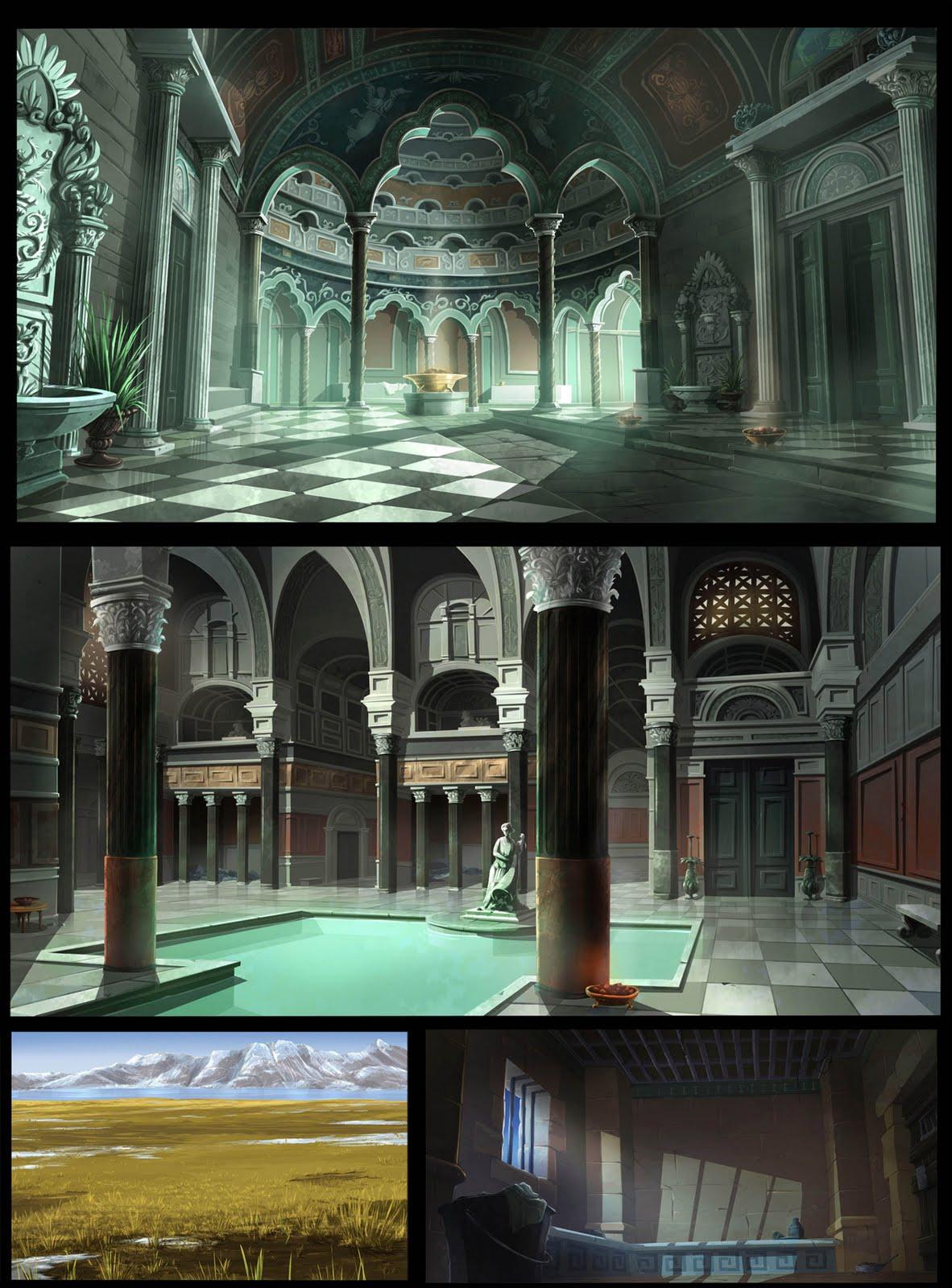 Anime scenery building mansion anime high school pics