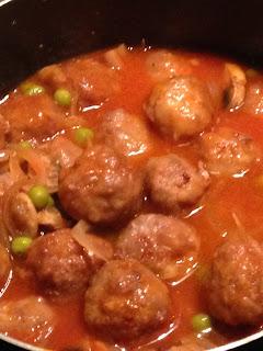Albóndigas con verduras, preparación 4