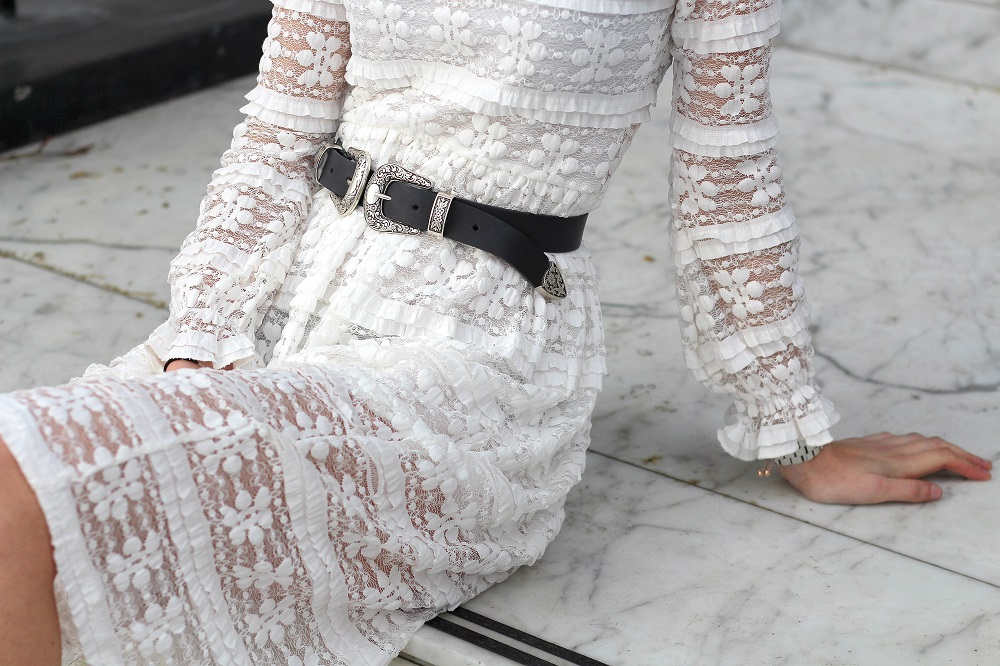 western double buckle belt asos