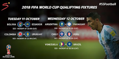 2018 FIFA World Cup qualifying fixtures for tonigh