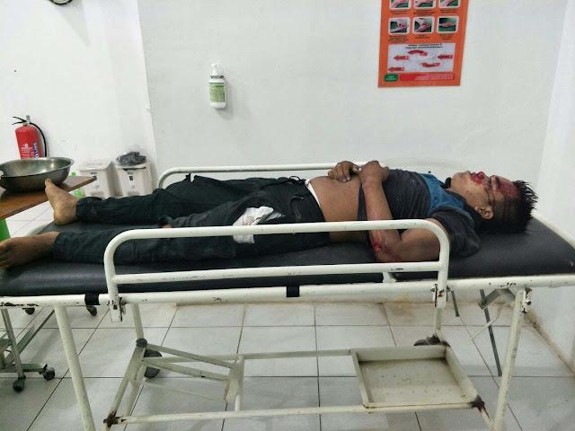 Jenazah korban saat berada di rumah sakit.