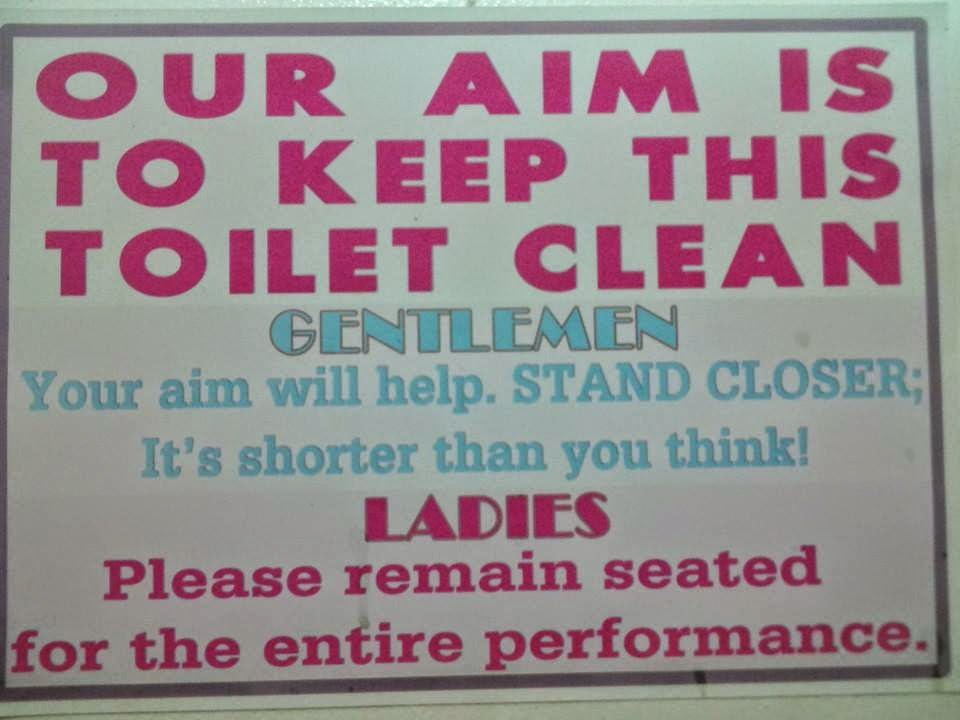Funny Toilet Sign Joke Picture