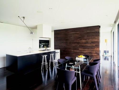 Cocina comedor de casa en Auckland