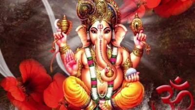 Hindu lord gajavaktra ganesh avatar picture
