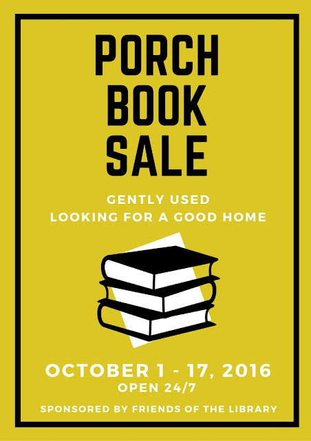 Mark Your Calendars for the 24/7 Porch Book Sale Oct 1-17, 2016