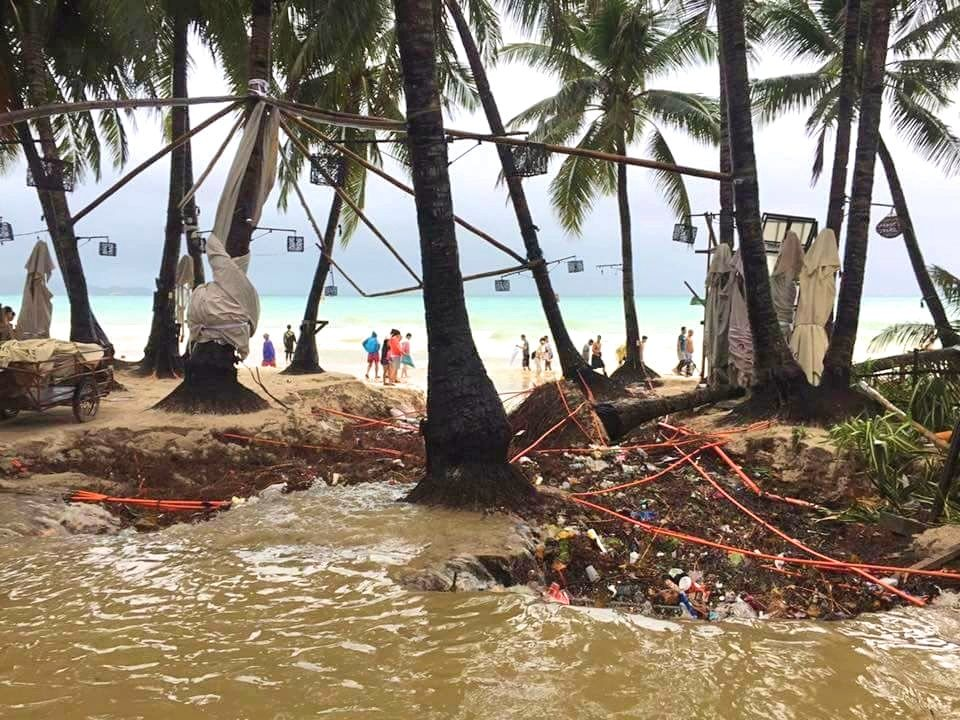 Boracay Island seems unrecognizable after Urduja hit Visayas over the weekend