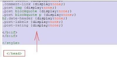 Подробное описание как вставить код для оформления главной страницы только с заголовками постов
