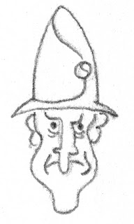 fierce guy with a big nose and tall hat