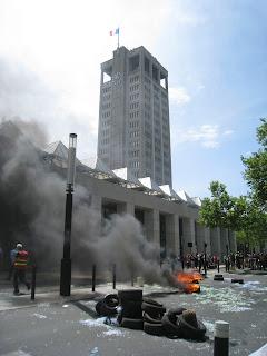 Le Havre : Il n'y a pas de fumée sans pneu