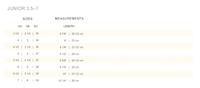 Polo Ralph Lauren Shoes Size Chart