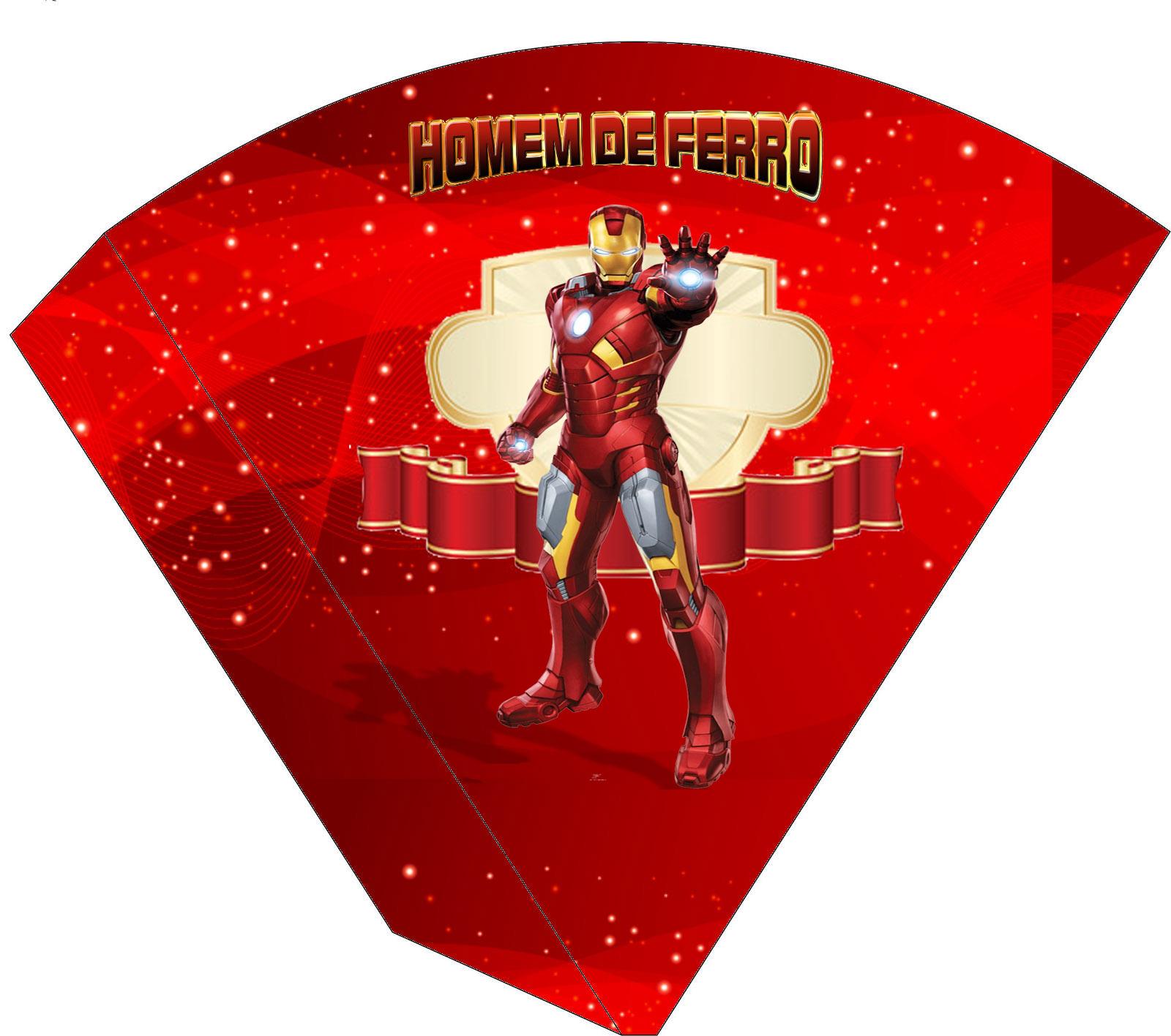 Kit Anivers 225 Rio Homem De Ferro Convite Tags Cone Para