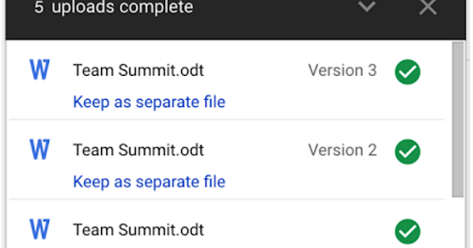 Improving the deduplication flow when uploading to Google Drive