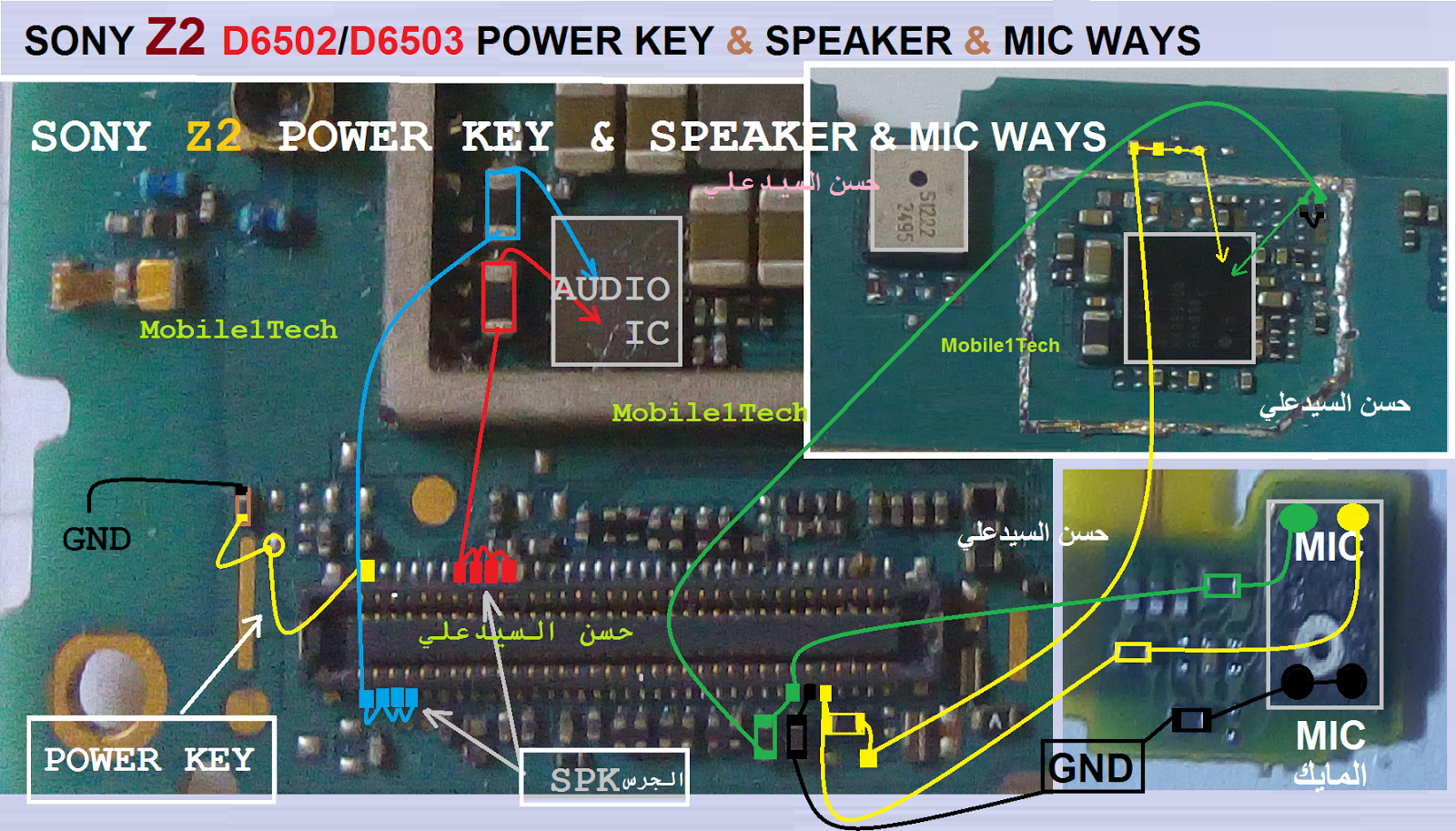 Sony Z2 Power Key  U0026 Speaker  U0026 Mic Ways