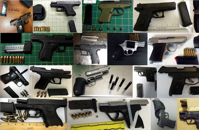 Discovered 38 firearms