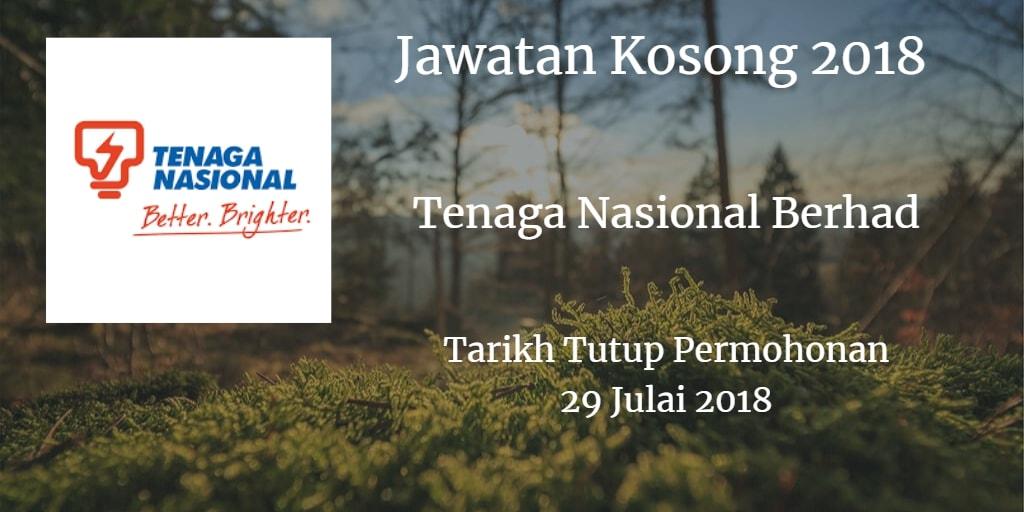 Jawatan Kosong TNB 29 Julai 2018