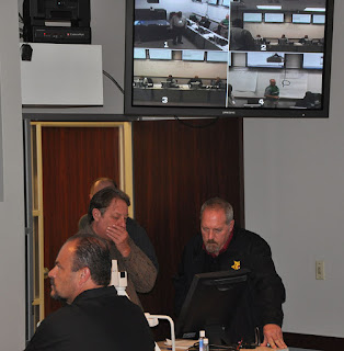 A classroom can monitor the inner workings of a command center during training.