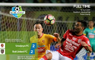 Sriwijaya FC vs Bali United Imbang 2-2 #Liga1