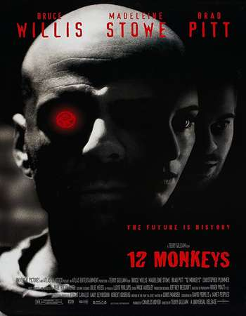 Poster of Movie Twelve Monkeys 1995 Dual Audio 720p BluRay