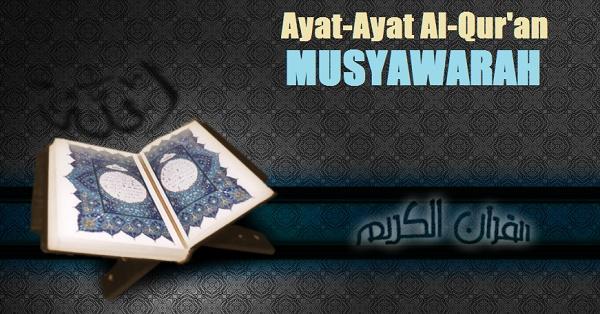 ayat alquran tentang musyawarah