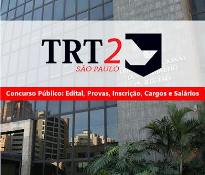 edital TRT-2 concursos 2018
