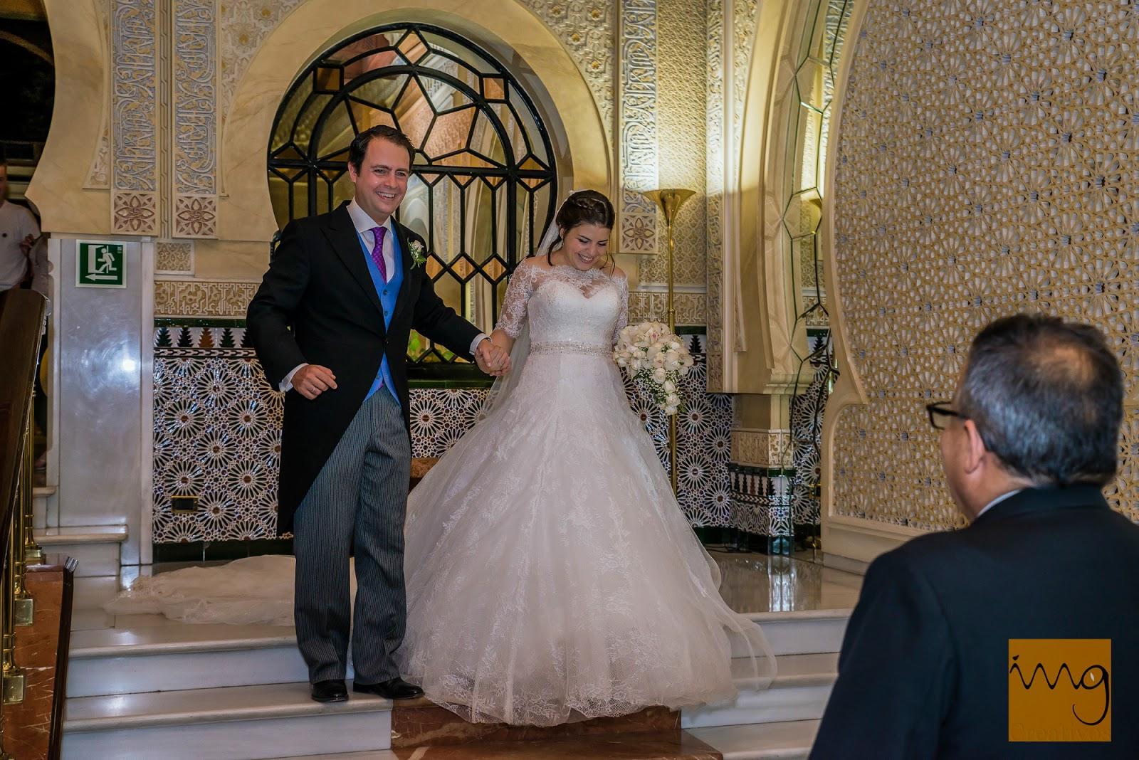 Fotografía de boda, recepción hotel Alhambra Palace en Granada
