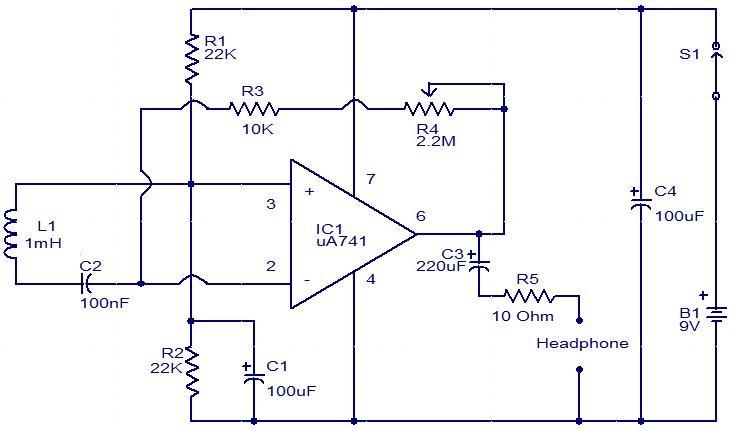 EMF sensor circuit using inductor and Opamp#circuits - basic p amp amp l template