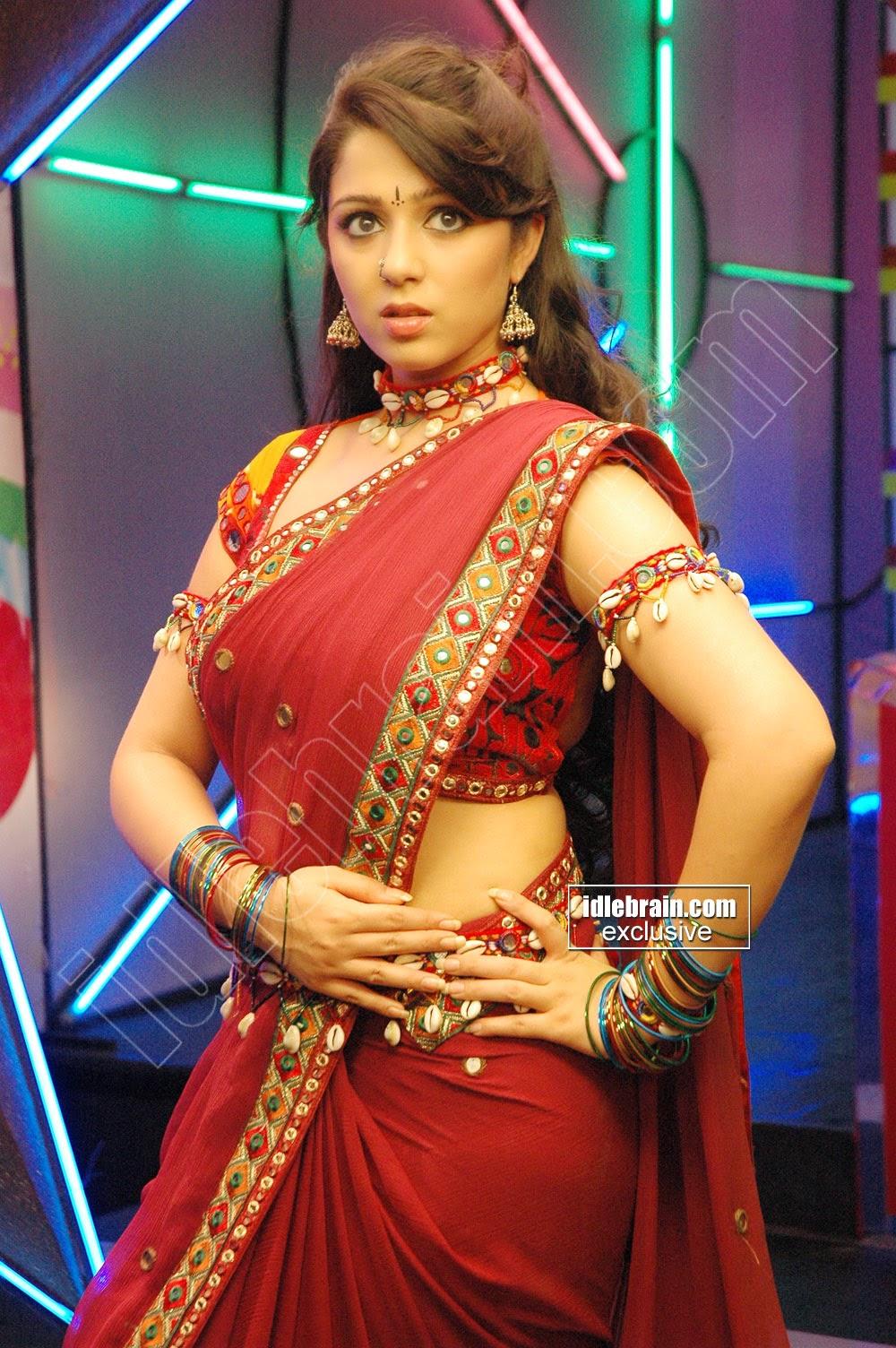 Indian Garam Masala Charmy Kaur Hot Back Glamour Look In -5114