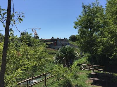 Palmanova: View of Porta Udine from the Roggia di Palma.