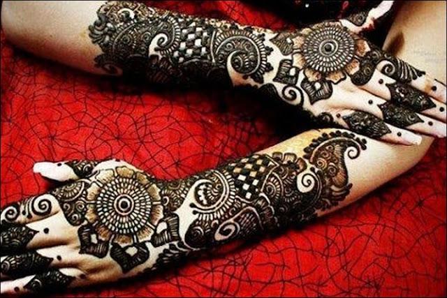 Simple Mehndi Designs Front Hands Photos