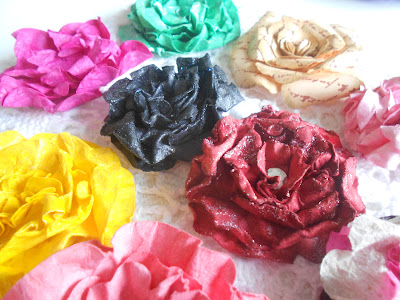 paper flowers for arts and crafts