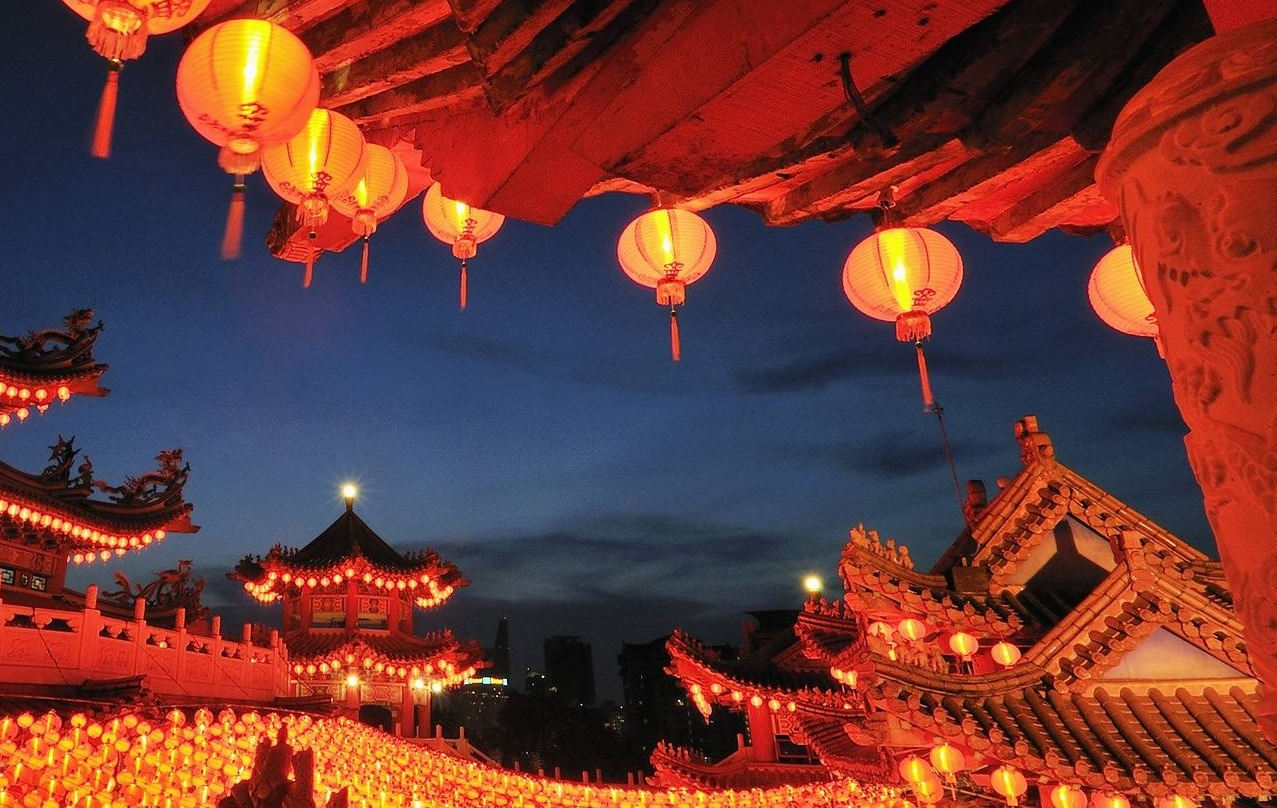 lanterns and red chinese new year - Chinese New Year Traditions
