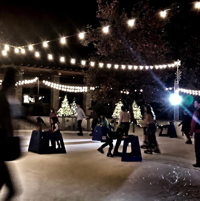 outdoor ice skating at the Lakes