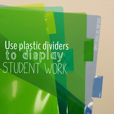 Upper Grades Are Awesome Bright Ideas Use plastic dividers to