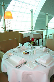 Fine dining is available at Emirates First Class Lounges