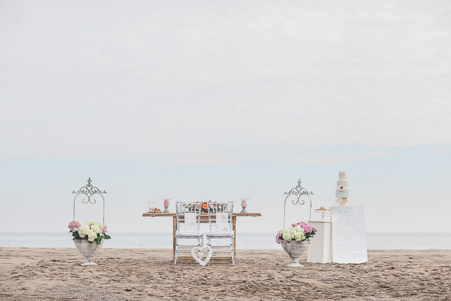 boda playa ideas coral marinera chuppah