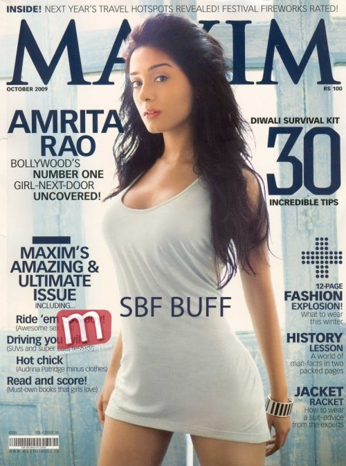 Bollywood Beauties in Maxim Cover Page