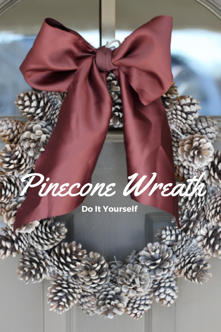 do it yourself divas diy pinecone wreath practically free. Black Bedroom Furniture Sets. Home Design Ideas
