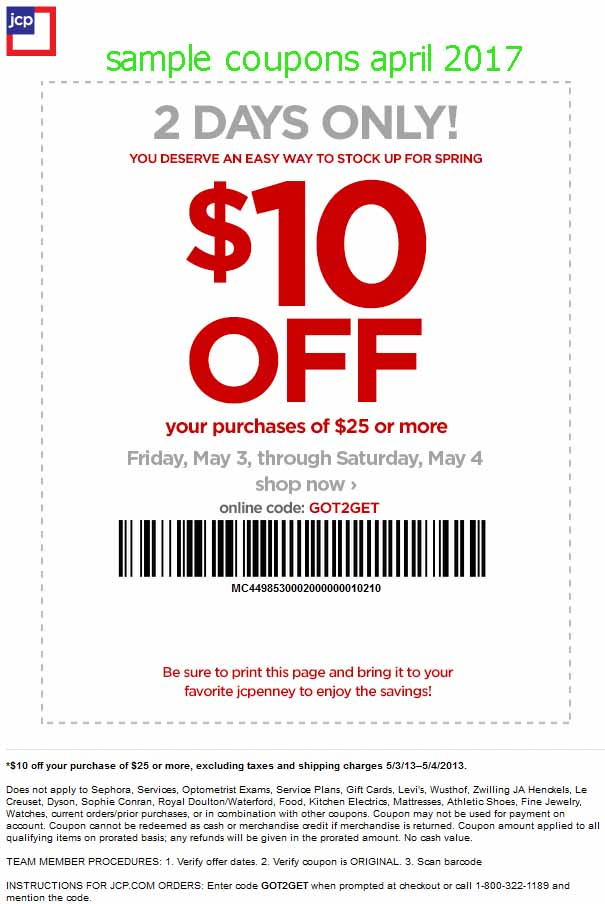 $10 off jcpenney coupon november 2018
