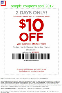 JcPenney coupons april