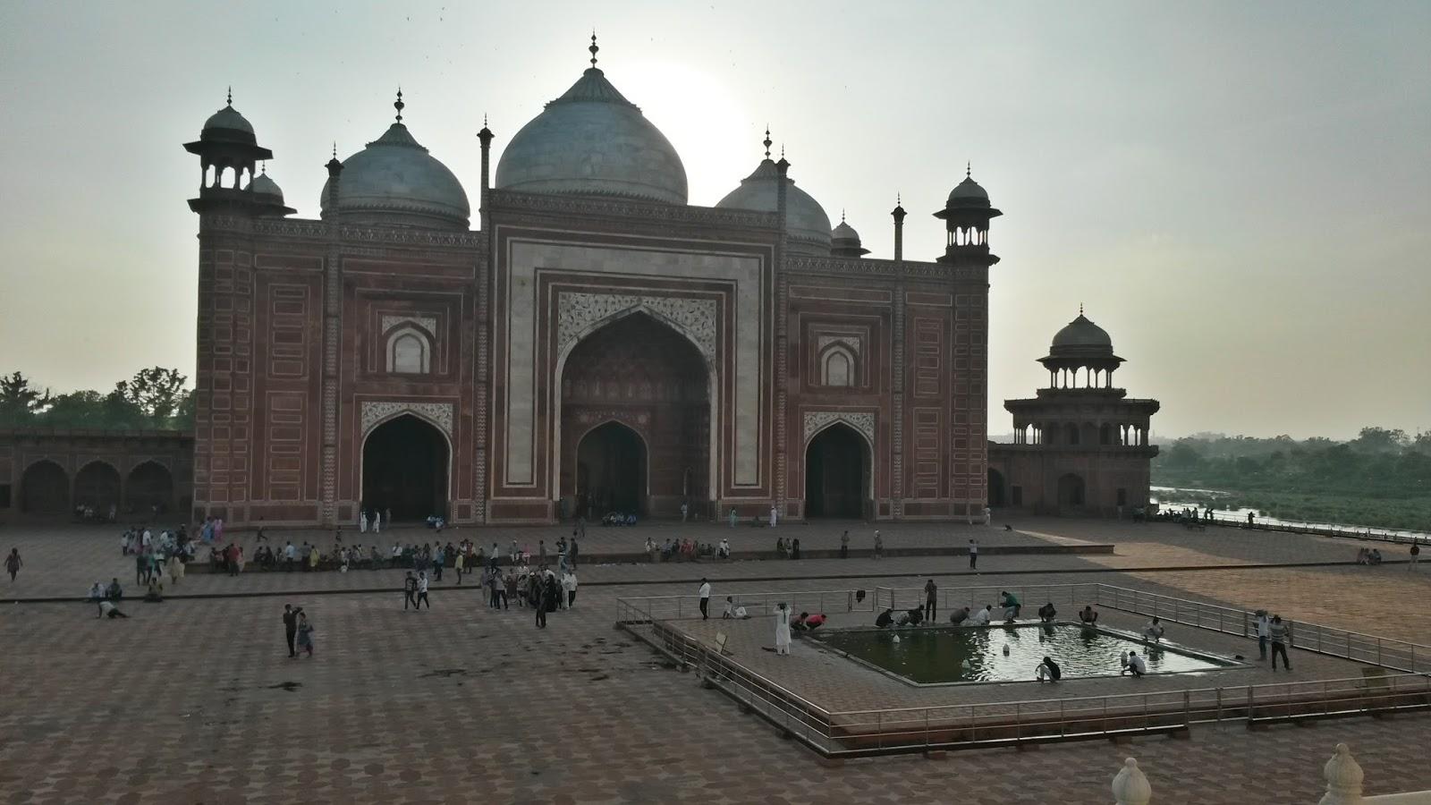 Taj Mahal Mosque Mac Mahal Cami Havuz