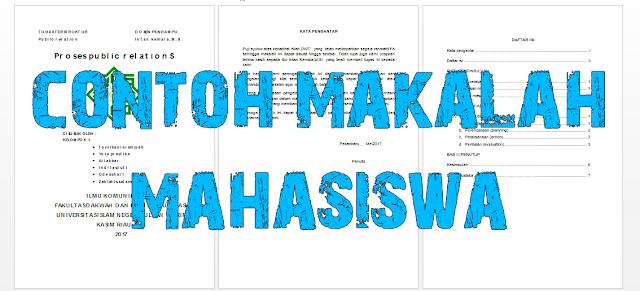 Download Contoh Makalah Mahasiswa Terbaru