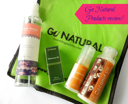 Go Natural Pakistan's Product review plus a DIY Oil-mix for Hair | Sparkling Palette Blog