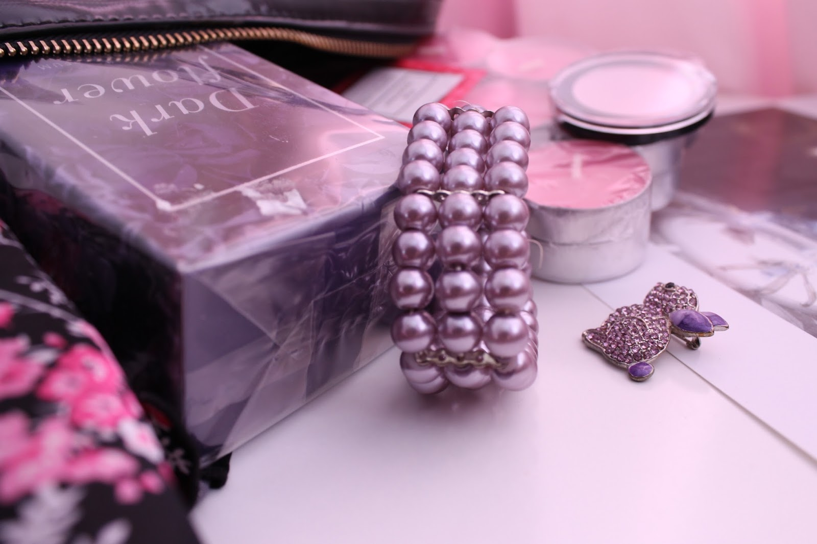Goodies Lilac Pearl Bracelet and Brooch