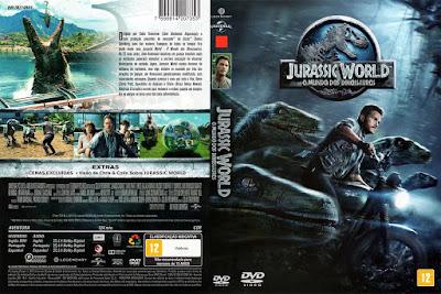 Filme Jurassic World - O Mundo dos Dinossauros DVD Capa